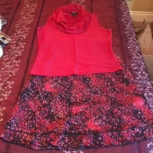 Dresses & Skirts - Cute skirt set with Express top